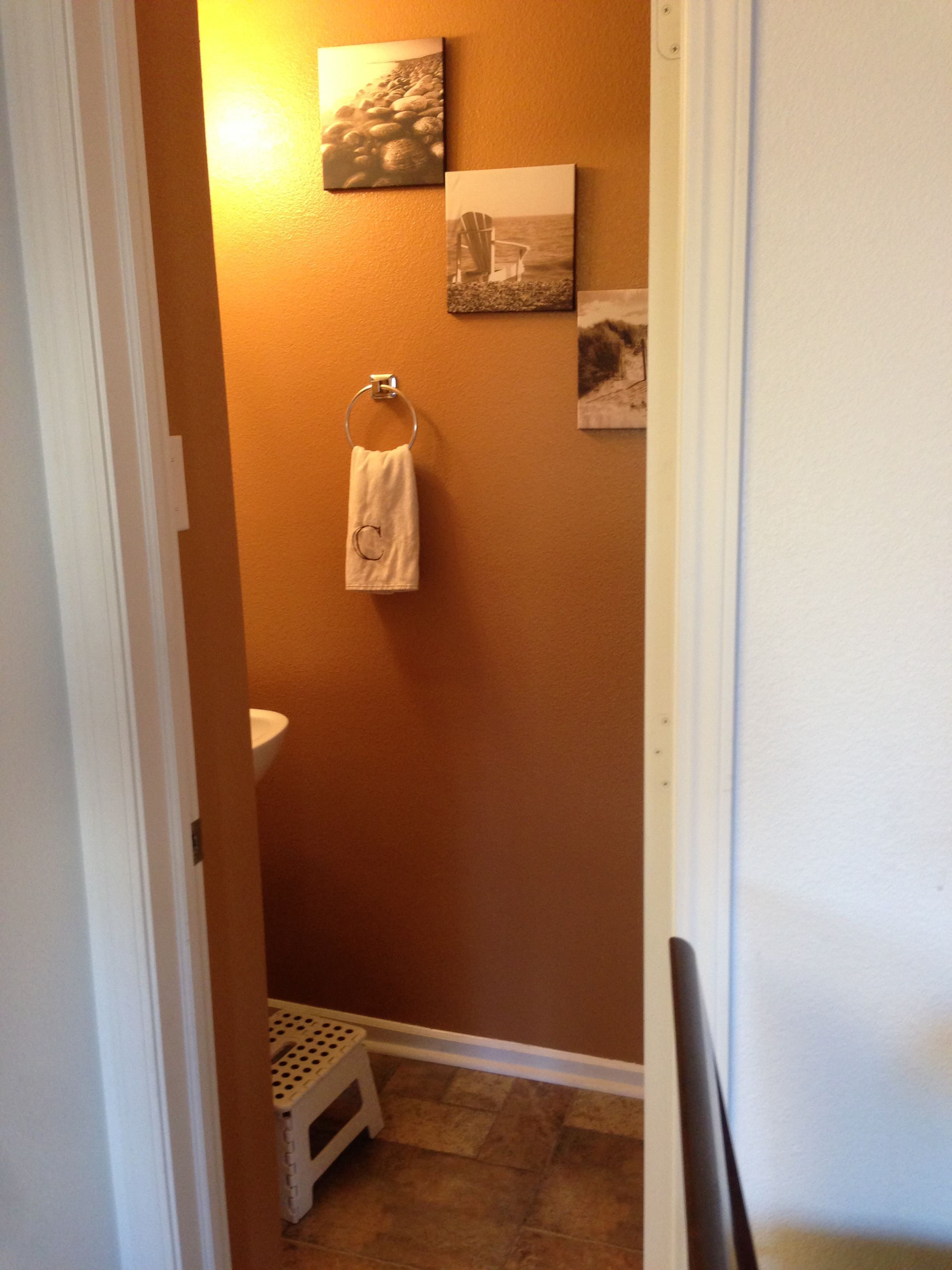 New paint color in half bath. Valspar gleaming tan. | Diy ...