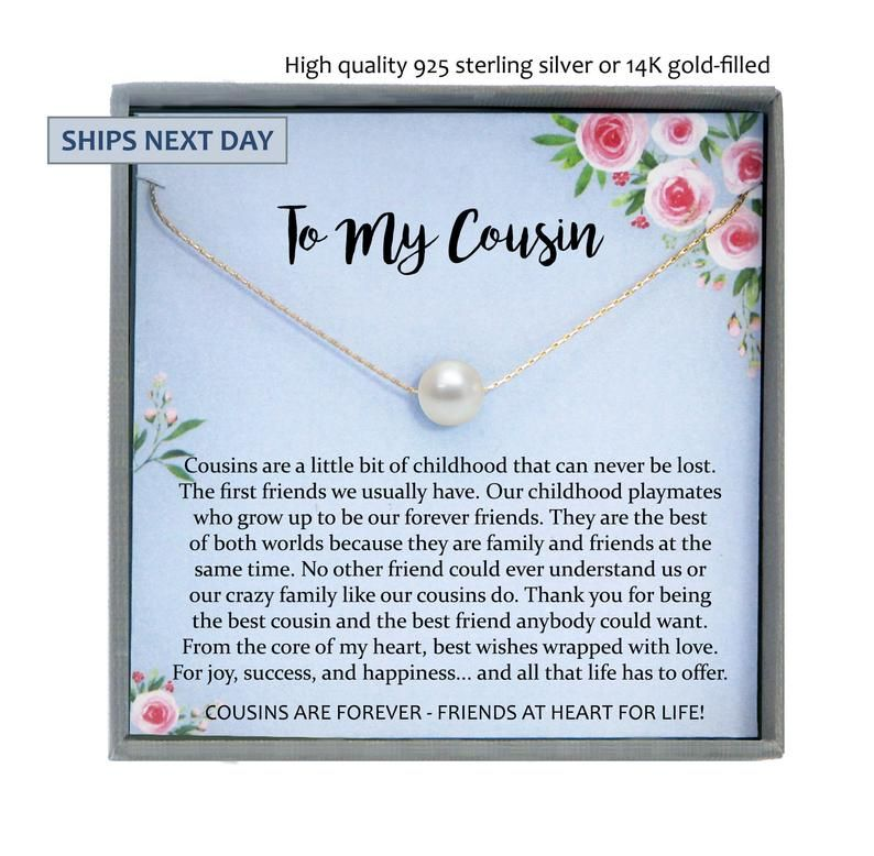 Gift For Cousin Gifts Cousin Necklace Cousin Wedding Gifts Etsy In 2021 Cousin Birthday Gifts Cousin Gifts Cousin Birthday