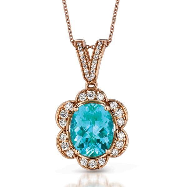 Paraiba Tourmaline Amp Diamond Pendant Le Vian Couture