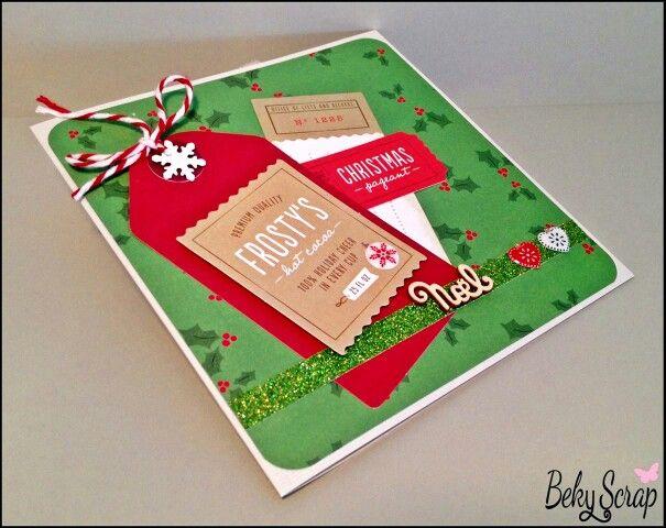Tarjeta navideña de Beky Scrap con kit mini de noviembre de www.scraptodream.com