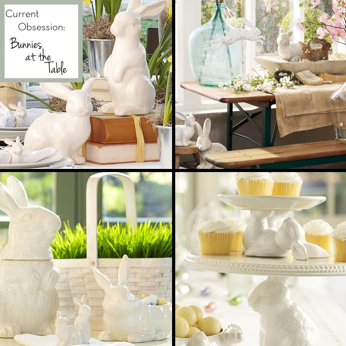 Pottery Barn Easter! That bunny stand is so cute!