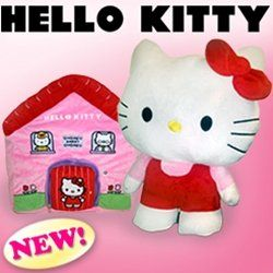 Hello Kitty Huggle Buddies Hideaway Reversible Ultra Soft Cuddly Toy That Hides In Its Pink House When Sleeping As Seen On P Hello Kitty Cuddly Toy Pitch Tv