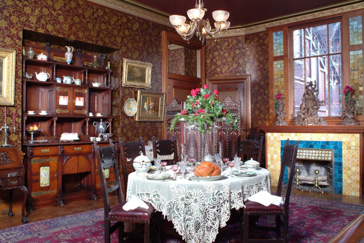 BEFORE ELSIE DE WOLFE Meet Candace Wheeler The Mother Of Interior Design Victorian HomesVictorian InteriorsVictorian DecorVictorian Dining