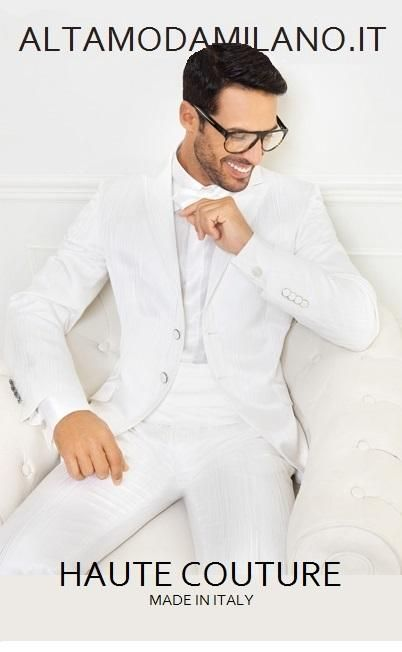e92ce44be55e0 Abiti da sposo BIANCO TOTLA WHITE le nuove collezioni di vestiti da  cerimonia uomo milano Novias