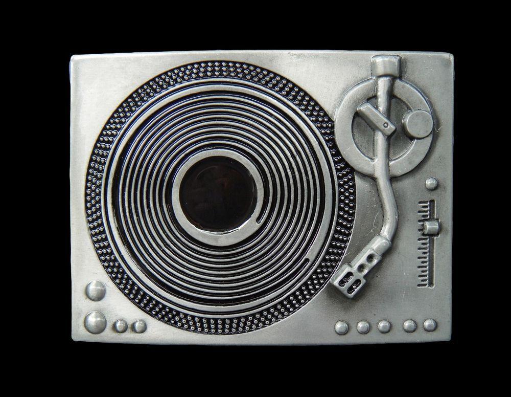 Record Player Spinning Turntable DJ Music Belt Buckle Boucle de Ceinture #dj #music #turntable #beltbuckle