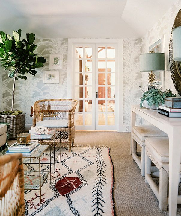 One Room Inspiration Vintage Eclectic Meets Beach Bungalow