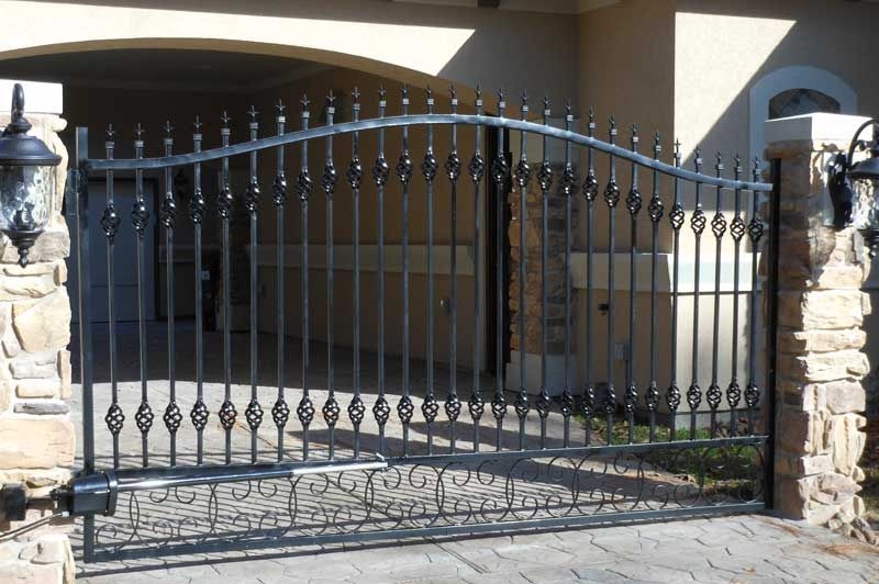 Single Wrought Iron Driveway Gate