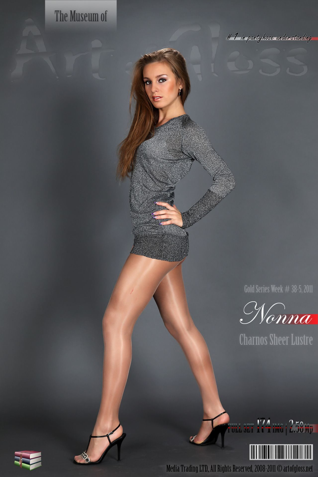 Modeling Sheer Pantyhose And Shiny