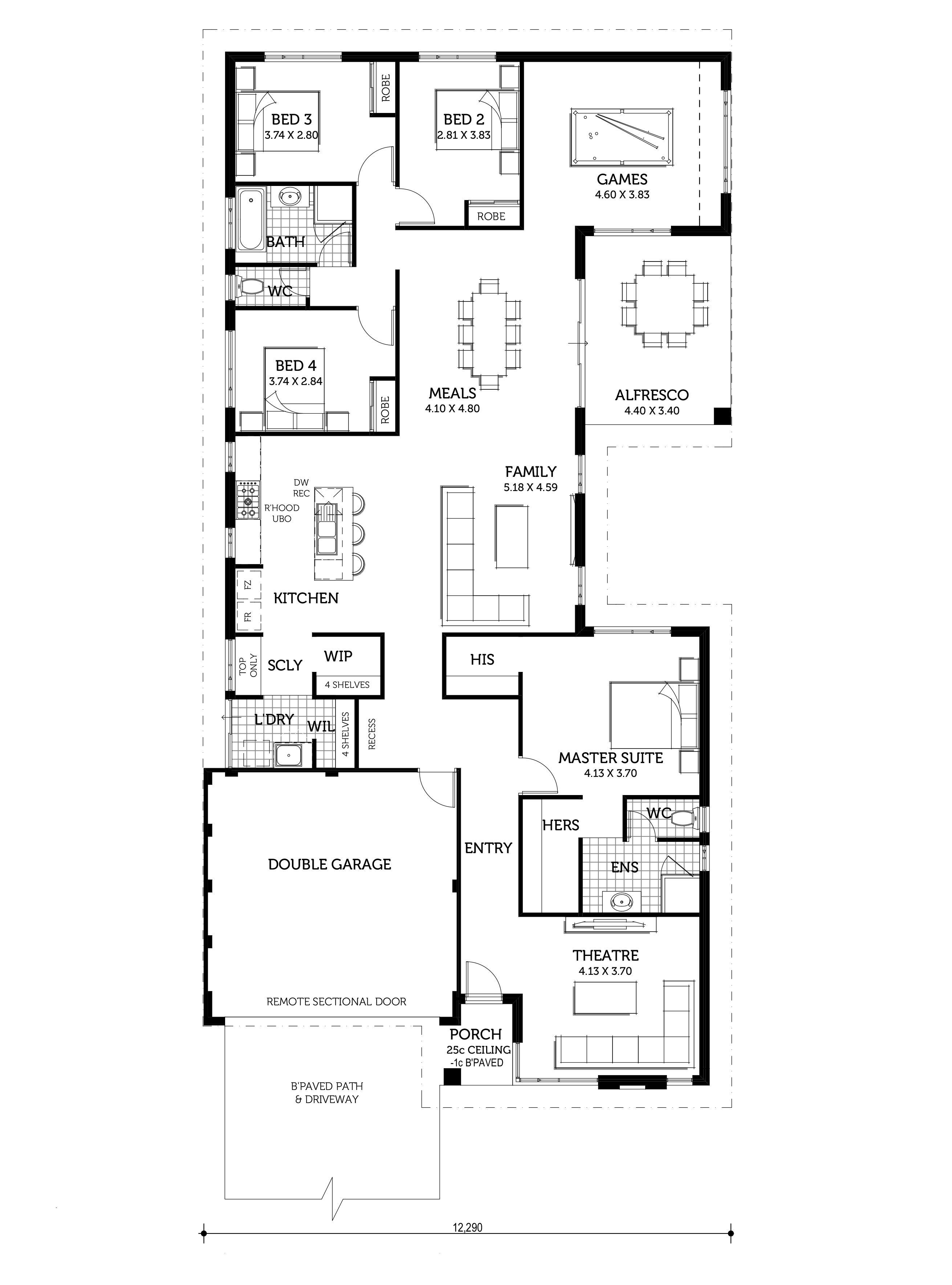 The Benoa Home Design Smart Homes For Living Single Storey House Plans Architectural Floor Plans Home Design Floor Plans