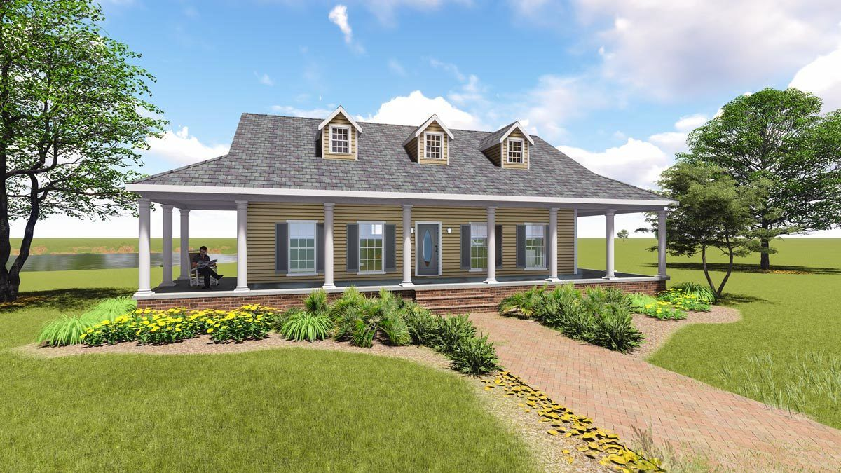 Plan 2597dh Graceful Southern Home Plan With Wrap Around Porch Country Style House Plans Porch House Plans Country Cottage House Plans