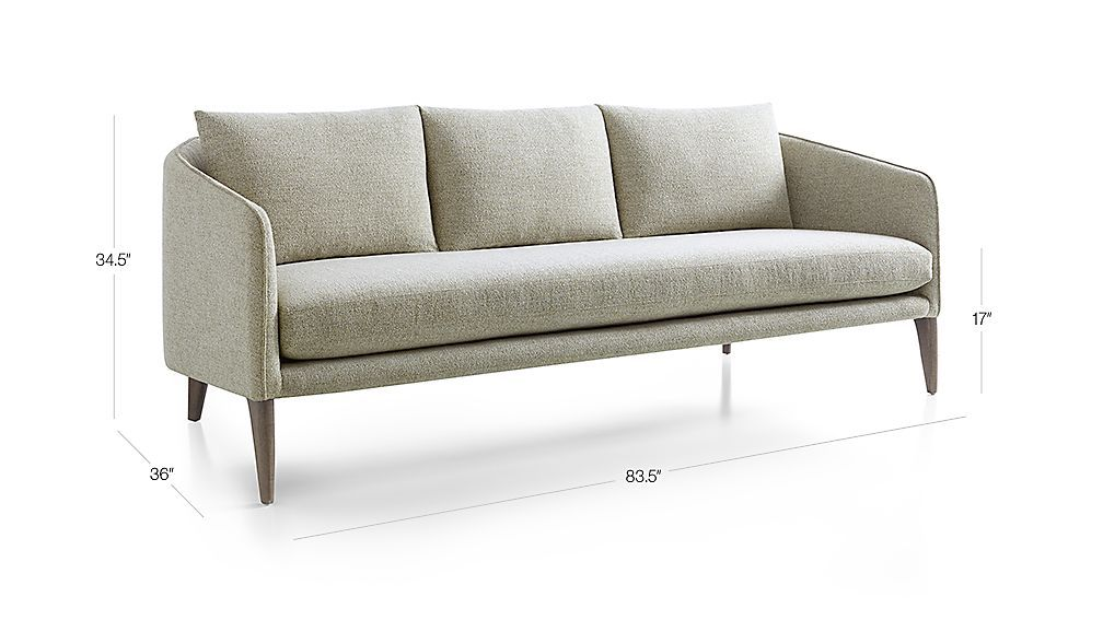 Rhys Bench Seat Sofa Reviews Crate And Barrel Diy Deck
