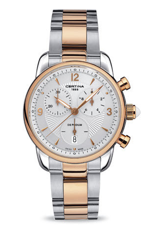 Certina Watch DS Podium Lady Chrono Quartz The ladies quartz models are as precise and reliable as the mens, with personalities ranging from the very sporty to the more classic and elegant.