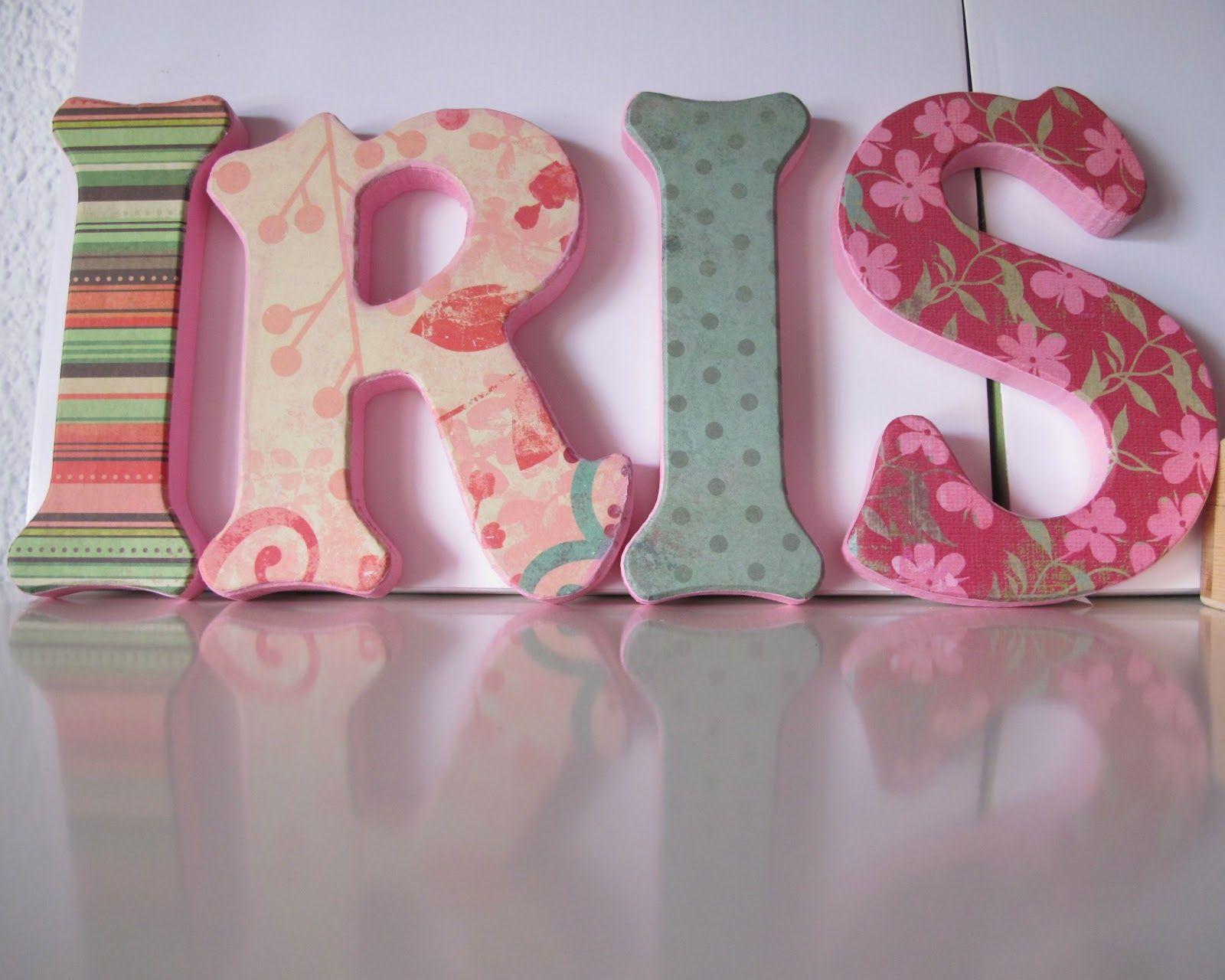 El jard n de los nombres letras decoradas para la for El jardin de las letras