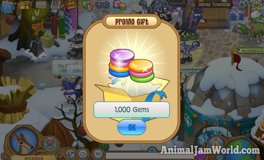 New Animal Jam 1000 Gem Code - January 2016 animal-jam-new-code ...