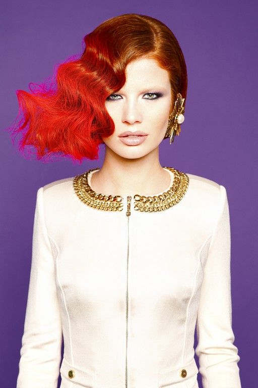 Assymetric red and ginger hair. Agnes Westerman