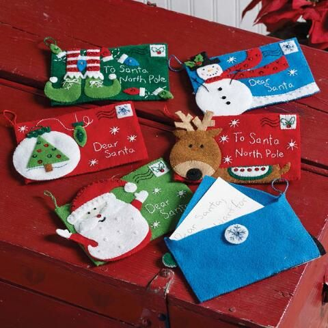 Bucilla letters to santa envelope ornaments felt kit herrschners bucilla letters to santa envelope ornaments felt kit herrschners spiritdancerdesigns Gallery