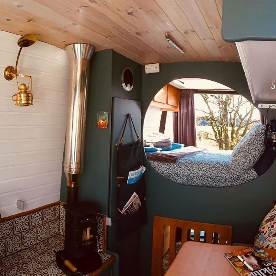 "Photo of Van Clan on Instagram: ""✍️A hobbit hole in a camper van! What do you guys think of this conversion from @quirkycampers 🤔 — 💻Visit Vanclan.co 🚐Follow…"""