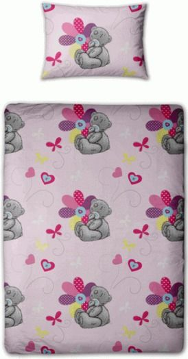 Me To You Tatty Teddy Pink Patchwork Daisy Single Duvet Cover Bedding Set