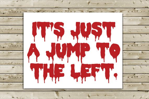 Awesome Rocky Horror Picture Show Greeting Card Its Just A Jump