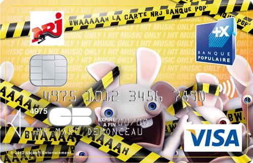 Carte Bleue Lapins Cretins Cwaaarte Nrj Banque Pop C I Bank Card