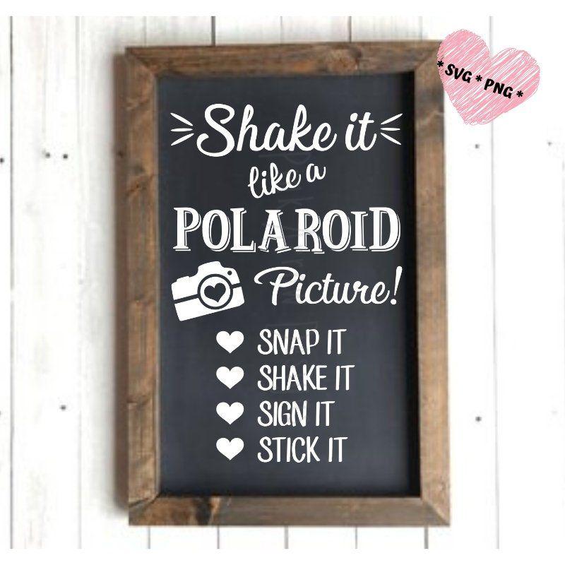17+ Polaroid wedding guest book sign ideas