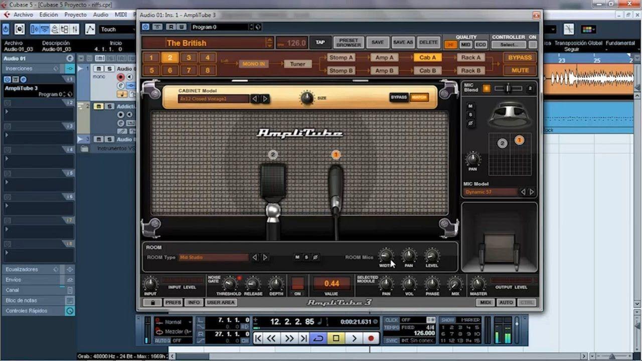 Tutorial Amplitube En Cubase Como Grabar Un Buen Sonido De Guitarra Cubase Audio Writting