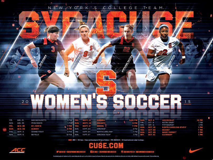 Syracuse Wsoc Soccer poster, Womens soccer, College