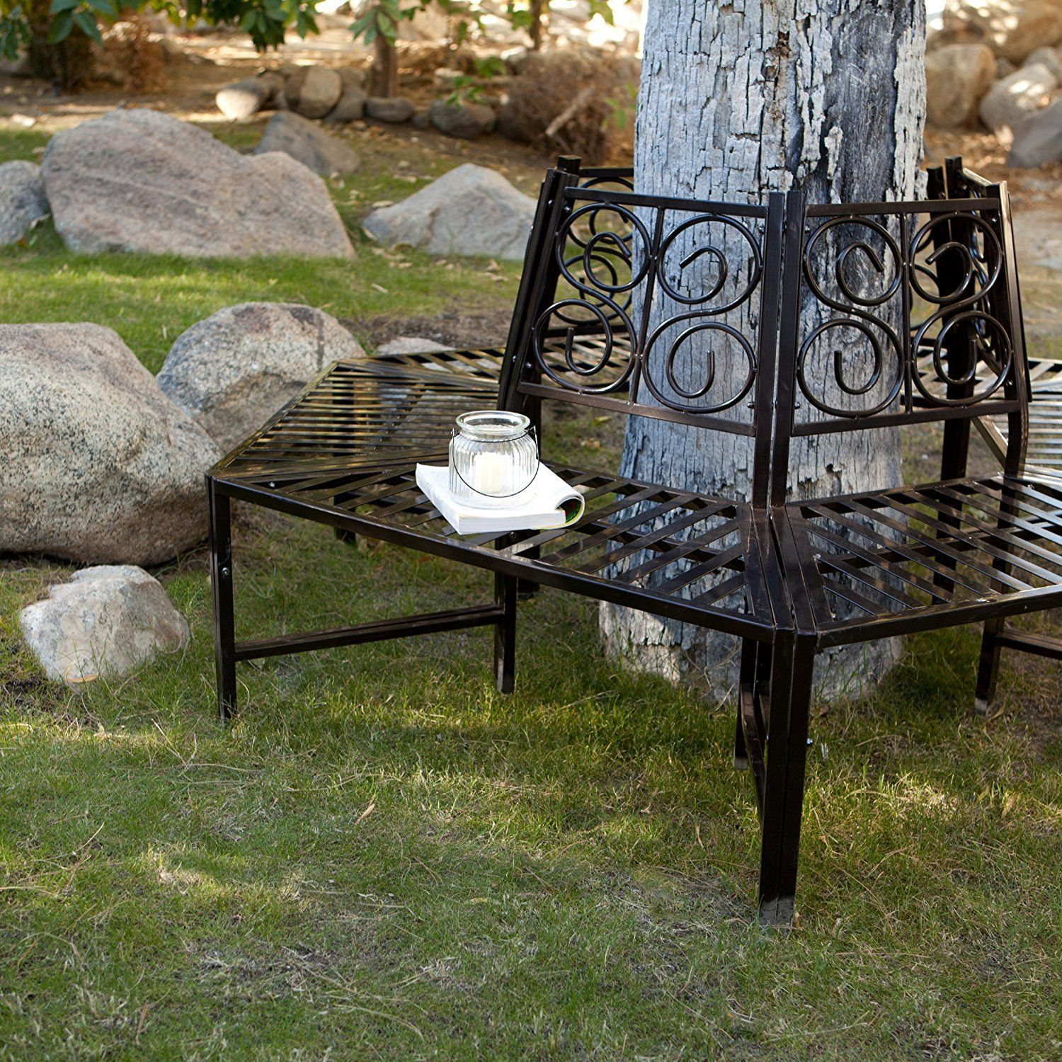 $19977 Wrap Around Tree Bench, This Metal Tree Surround Bench
