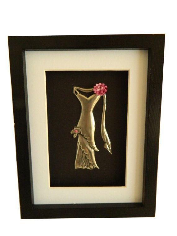 Framed Wall Art Pewter Dress Sculpture by Loutul on Etsy, £16.00