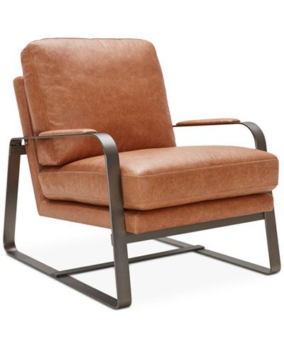 Jollene Leather Accent Chair, Only at Macy's