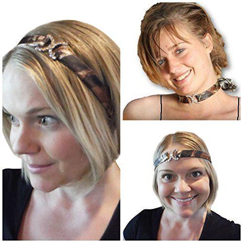7417b38a5e7c3 Mossy Oak Headband Choker Necklace, Camo Prom Wedding Head Band ...