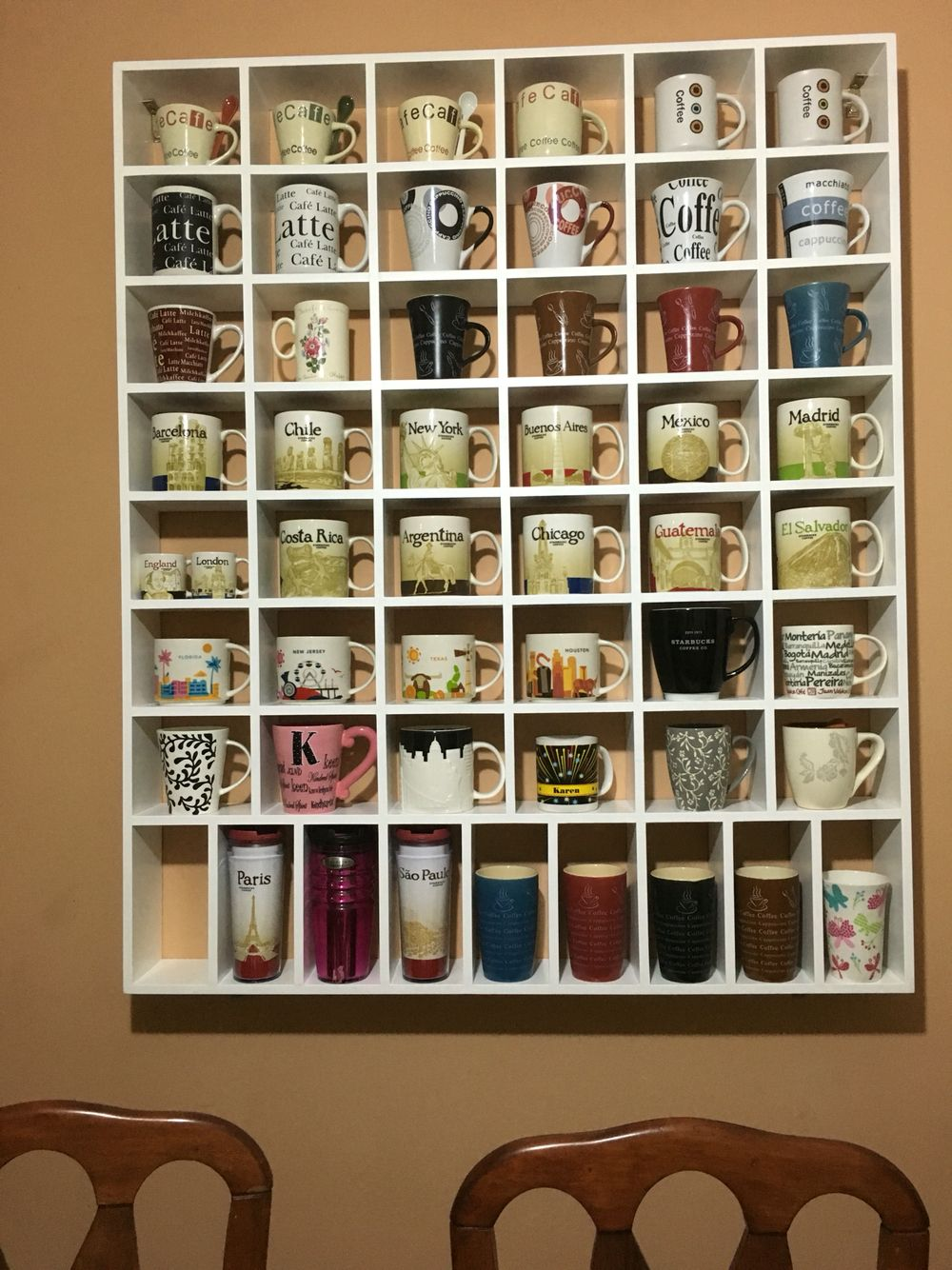 My Mug Collection Its A Shelf Adaptation For My Coffee Mug