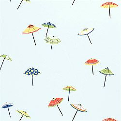 Umbrella Wallpaper In Blue From The Spring Lake Collection By Thibaut