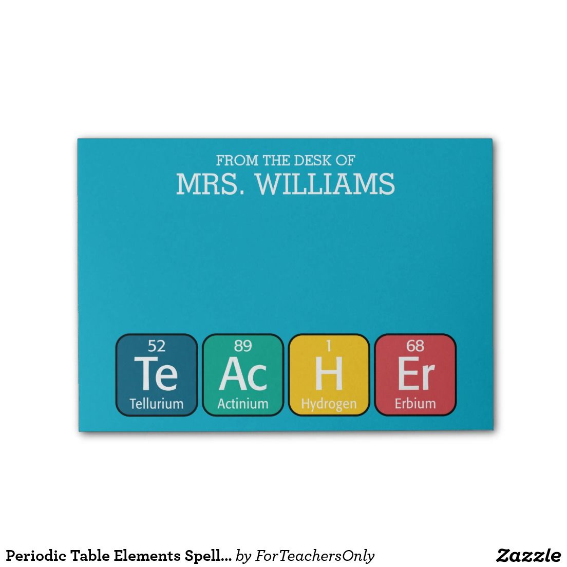 periodic table elements spelling teacher post it notes - Periodic Table Of Elements Gifts