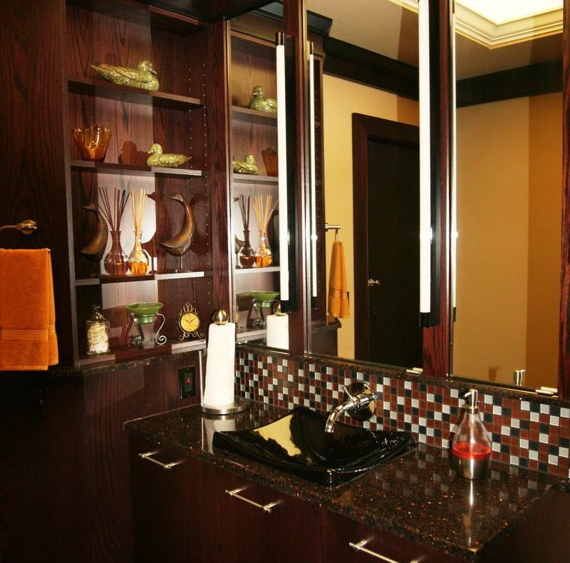 Powder Rooms Designs With Tissue Roll
