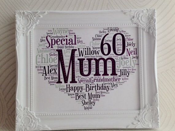 Mums Birthday Present For Mum 60th Milestone Personalised 25 00