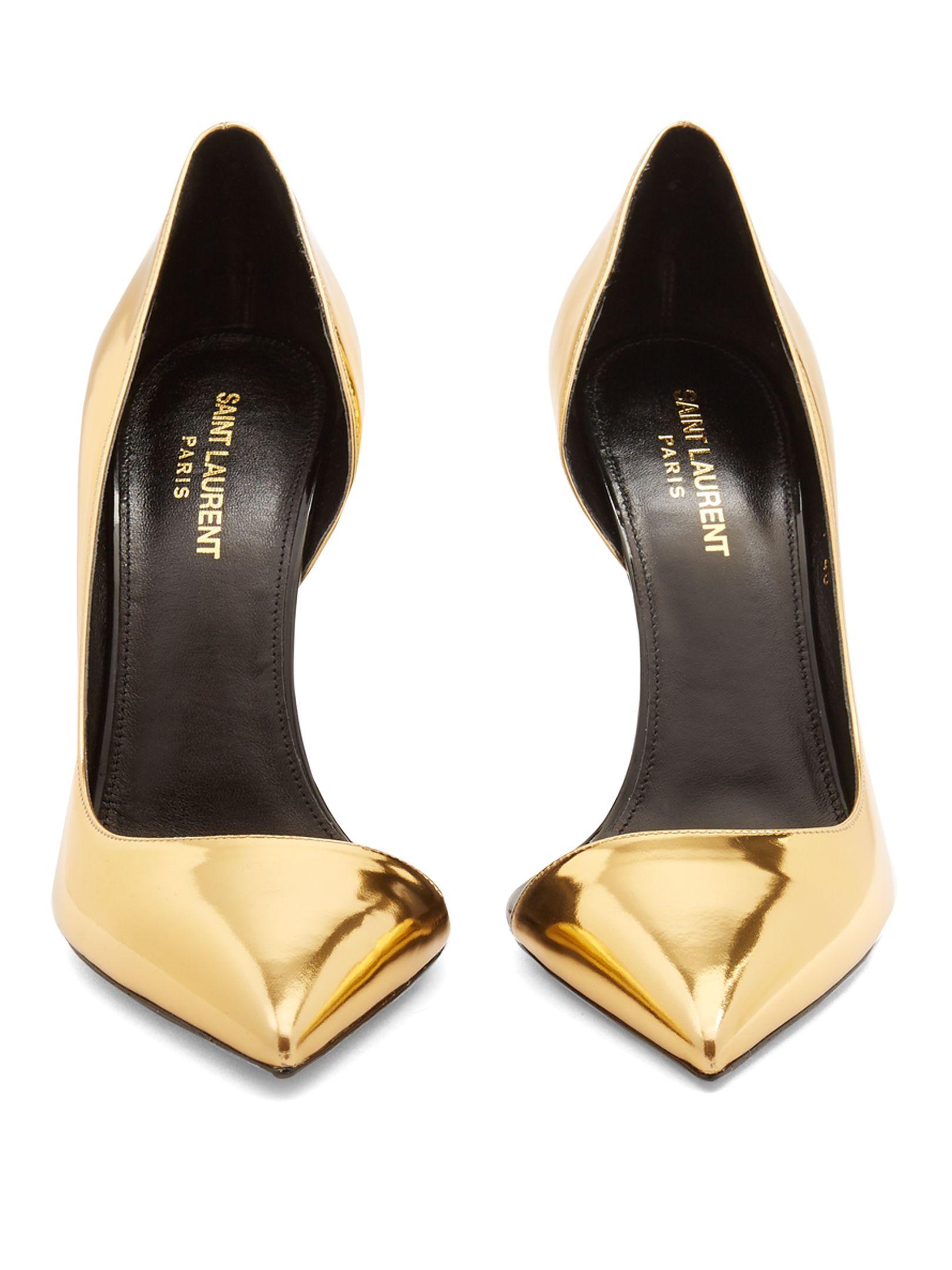 1640f0a7 SAINT LAURENT Anja leather pumps | Couture in 2019 | Saint laurent ...