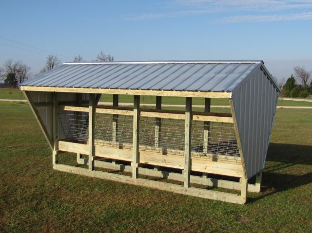 Large Covered Feeder With Manger Horse Shelter Sheep Feeders