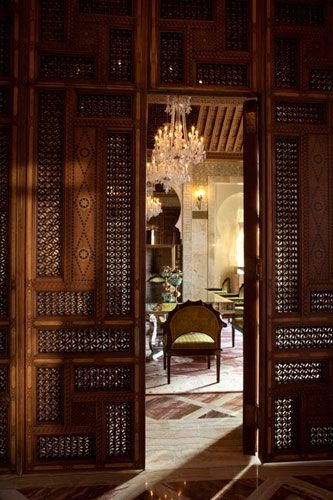 Mashrabiya Doors In A Suite In The Royal Mansour