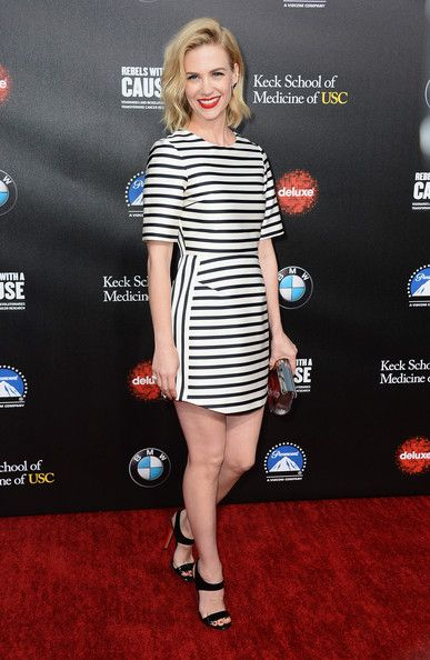 January Jones Actress January Jones arrives at the 2nd Annual Rebels With A Cause Gala at Paramount Studios on March 20, 2014 in Hollywood, ...
