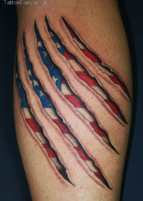 30 Great American Flag Tattoos Creativefan Free Download Tattoo ...