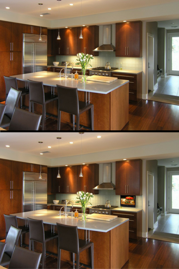 Small Tv Lift Our Tiny Yet Powerful Tv Lift Nexus 21 Luxury Kitchen Smart Home Technology Home Technology