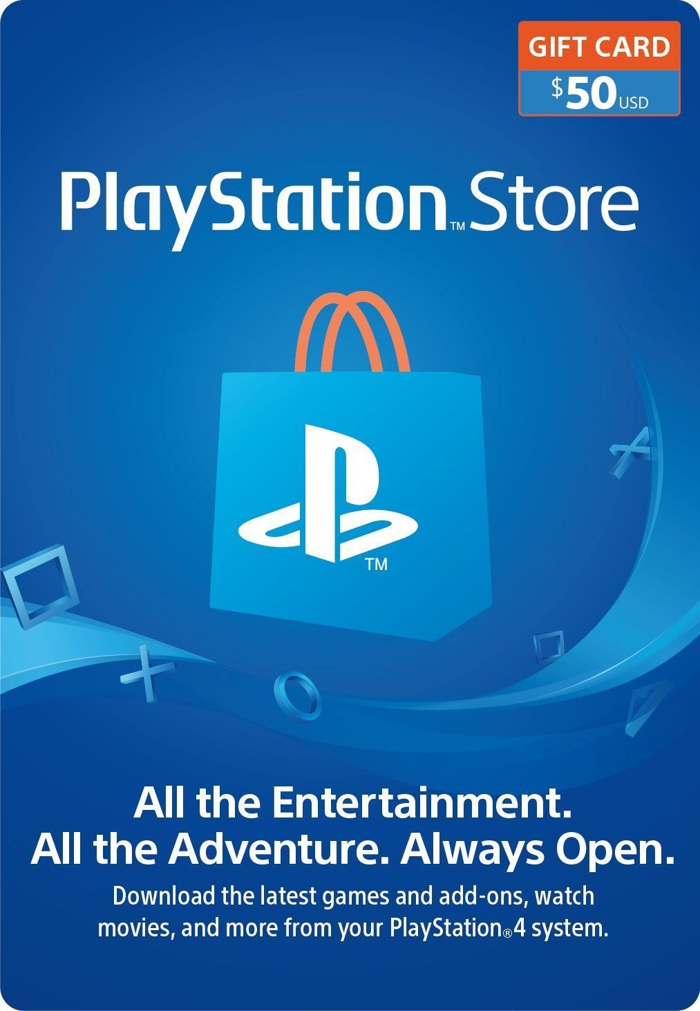 Great Gift 50 Playstation Store Gift Card Ps3 Ps4 Ps Vita Digital Code Video Games Giftcard Playstation Store Gift Cards Computer Video Games