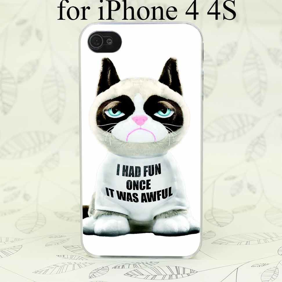 Grumpy Cat Toy Hard Transparent Case Cover for iPhone