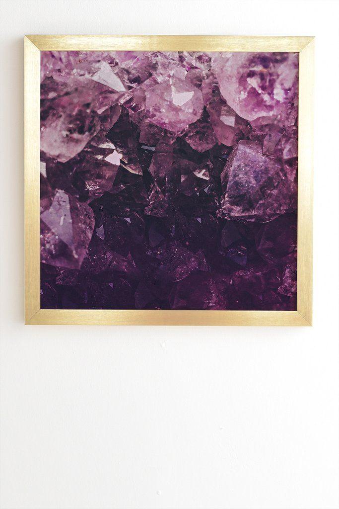 Leah flores amethyst gemstone framed wall art deny designs home accessories