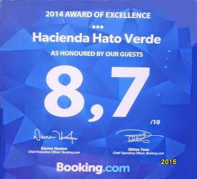 Hacienda Hato Verde: Booking Award!!