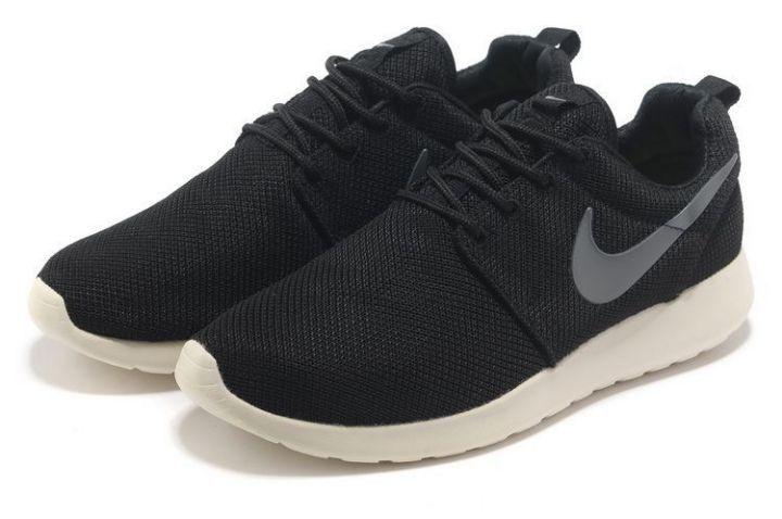 Nike Roshe Run Chaussures Pour Noir Gris Foncé ventes spéciales