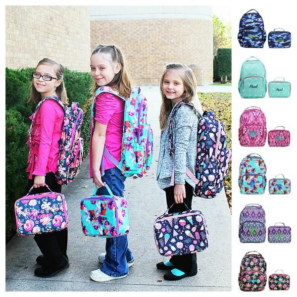 6afa73cb70 Personalized Matching Backpack   Lunch Bag Lunchbox Set - perfect backpack  for kids including monogrammed name or monogram   Personalized Backpacks ...