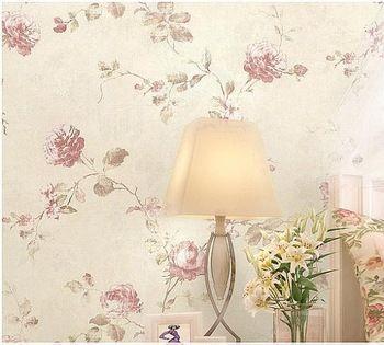 Rustieke roos romantische non woven bloem meisje bloemen behang behang voor de woonkamer - Meisje romantische stijl slaapkamer ...