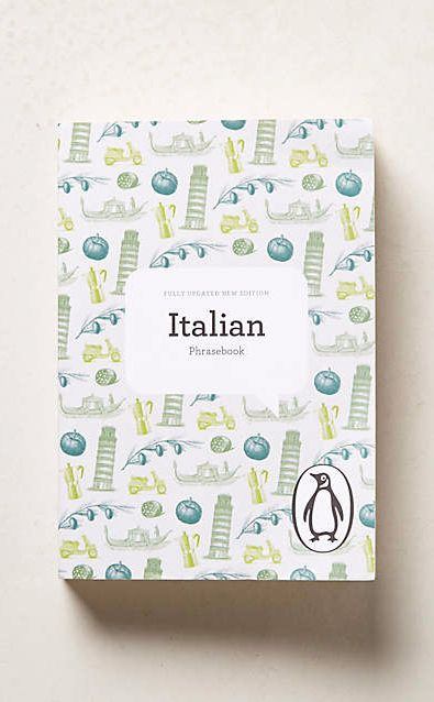 Italian Phrasebook #anthrofave